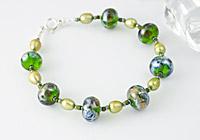 """Titania"" Lampwork Bracelet"