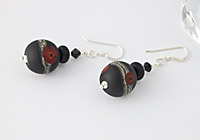 "Lampwork Earrings ""Poppy"""