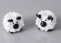 Lampwork Sheep Beads