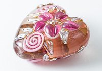 Flower Heart Lampwork Bead alternative view 2