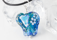 Turquoise Lampwork Elephant Bead Necklace