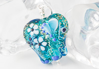 Turquoise Lampwork Elephant Bead Pendant