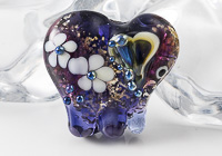 Purple Lampwork Elephant Bead