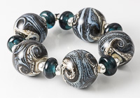 Weather Front Lampwork Beads
