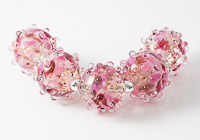Glittery Lampwork Bumpy Beads
