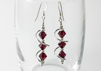 Red Cosmic Crystal Earrings alternative view 1