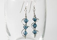 Blue Cosmic Crystal Earrings alternative view 1