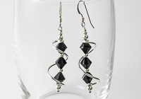 Black Cosmic Crystal Earrings alternative view 1