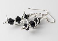 Black Cosmic Crystal Earrings