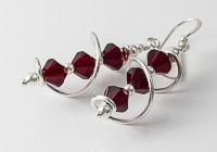 Red Cosmic Crystal Earrings