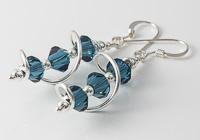 Blue Cosmic Crystal Earrings