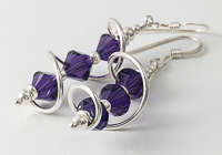 Purple Cosmic Crystal Earrings