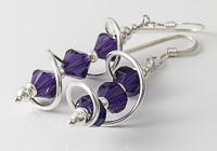 Purple Cosmic Crystal Earrings