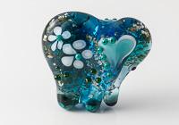 Turquoise Lampwork Elephant Bead