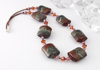 """Rosie"" Lampwork Necklace"
