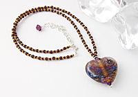 "Lampwork Heart Necklace ""Sublime"""