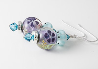 Purple and Turquoise Lampwork Earrings alternative view 1