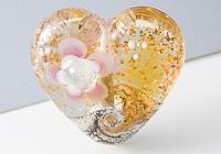 Heart Lampwork Bead alternative view 1