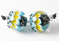 Dichroic Lampwork Dahlia Beads
