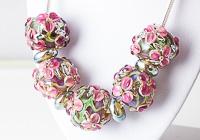 Lampwork Flower Bead Necklace
