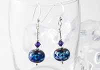 """Milky Way"" Lampwork Earrings"