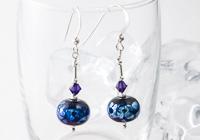 """""""Milky Way"""" Lampwork Earrings"""