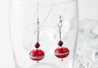 """Marachino"" Lampwork Earrings"