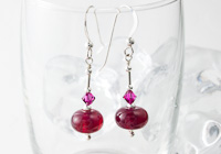 "Sterling Silver Earrings ""Ruby"""