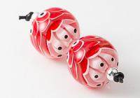 Red Dahlia Lampwork Beads alternative view 1