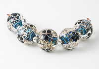 Sparkly Flower Lampwork Beads
