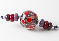 Heart Lampwork Bead Set