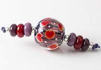 Heart Lampwork Bead Set