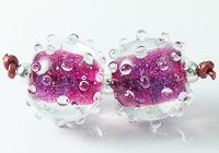 Dichroic Bumpy Lampwork Beads