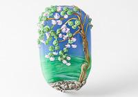 Blossom Tree Landscape Lampwork Bead