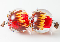 Implosion Aster Lampwork Beads