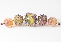 Silver Glass Lampwork Beads