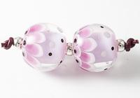 Dotty Dahlia Lampwork Beads