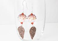 Dahlia Lampwork Earrings alternative view 1