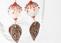 Dahlia Lampwork Earrings alternative view 2