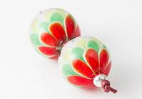 Red Dahlia Lampwork Beads alternative view 2