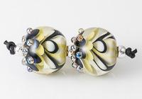 Pistachio Dahlia Lampwork Beads
