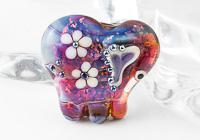 Purple Lampwork Elephant Bead