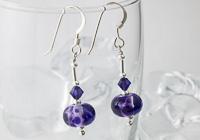 Purple Fritty Earrings