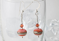 Dusky Orange Lampwork Earrings