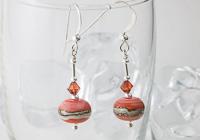 Dusky Orange Lampwork Earrings
