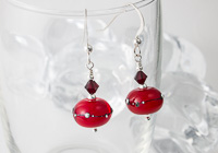 Cherry Red Earrings