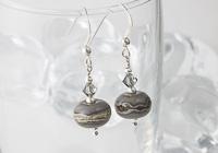 Dark Grey Lampwork Earrings