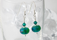 """Gaia"" Lampwork Earrings"