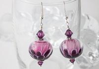Pink Dahlia Earrings