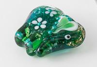 Green Lampwork Elephant Bead alternative view 2